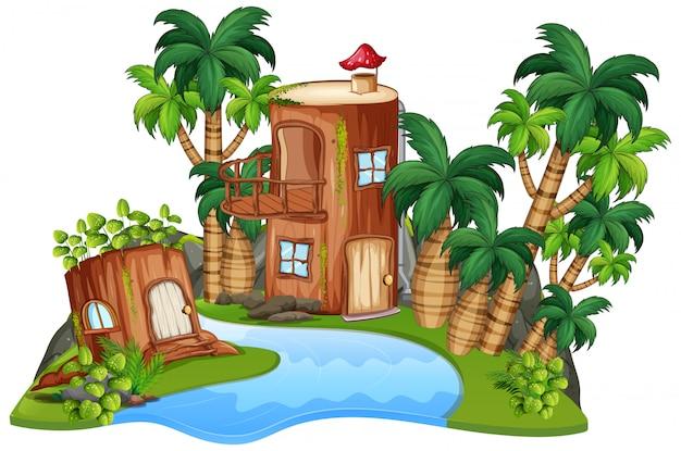 Una casa de fantasia aislada