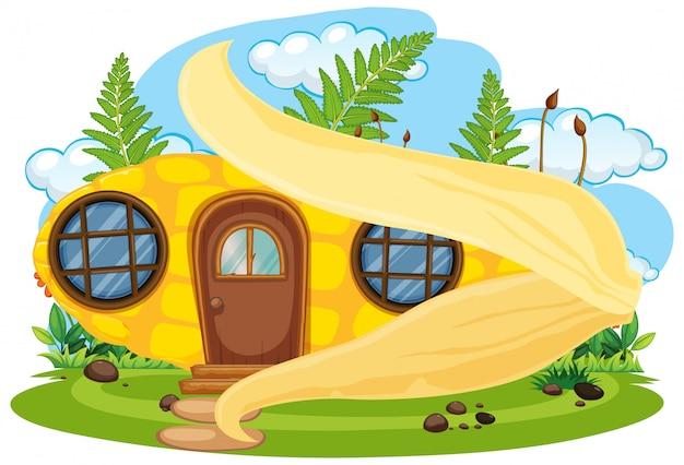 Casa de hadas de maíz aislada