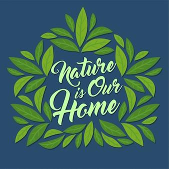 Casa hecha de hojas