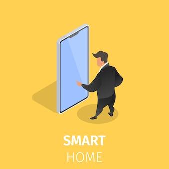 Casa inteligente controlada con teléfono inteligente