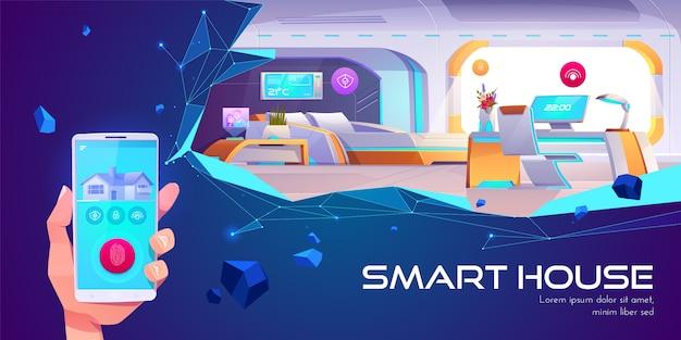 Casa inteligente y tecnología de inteligencia artificial