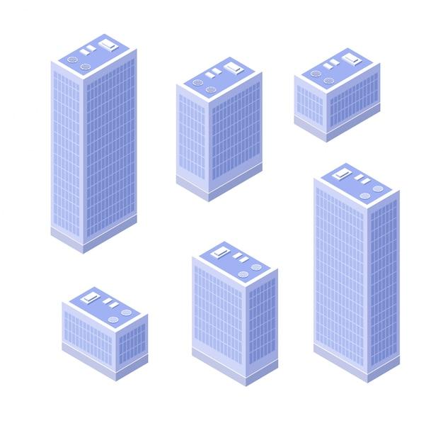 Casa isométrica urbana.