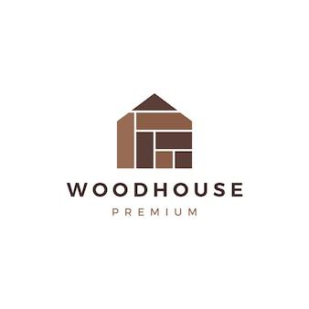 Casa de madera panel de madera fachada de fachadas wpc vinilo hpl logo icono