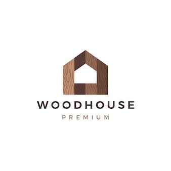 Casa de madera panel de madera fachada de fachadas wpc vinilo hpl logo