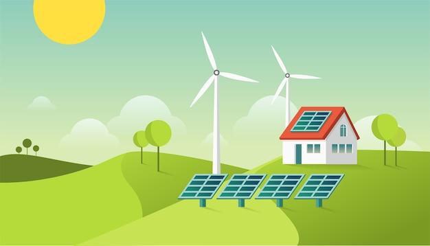 Casa moderna amigable con el medio ambiente