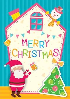 Casa de navidad santa