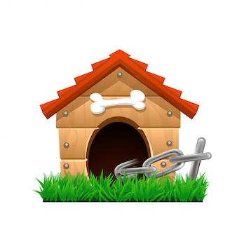 Casa de perro de dibujos animados
