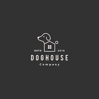 Casa de perro mascota casa logo