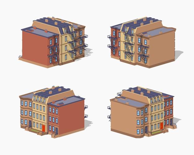Casa de pueblo de baja densidad de color marrón