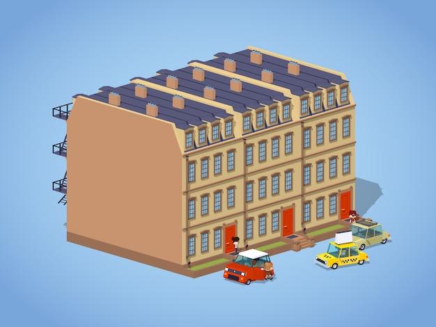 Casa de pueblo de baja densidad de piedra rojiza