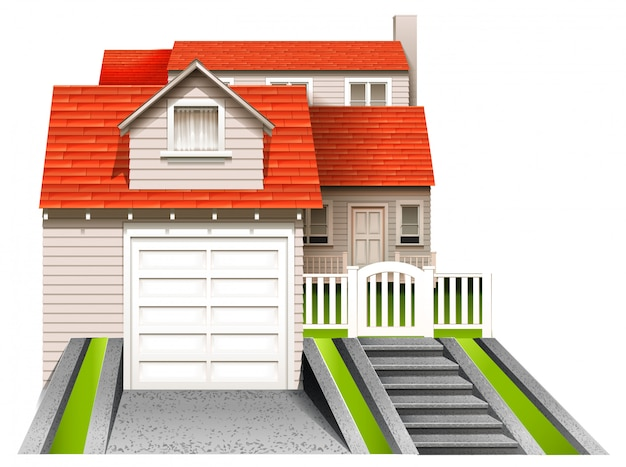 Casa residencial en estilo 3d
