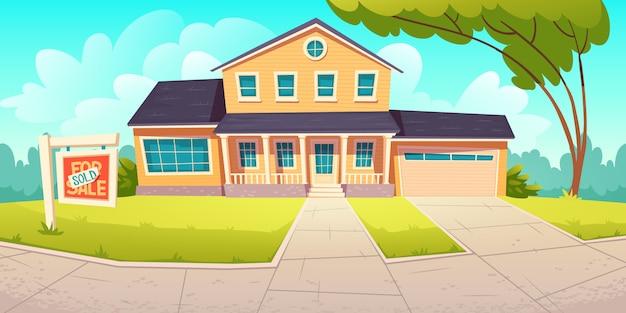 Casa rural suburbana con garaje con cartel vendido