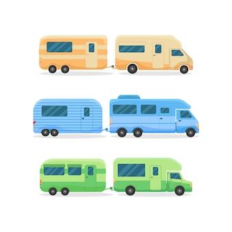 Casa sobre ruedas. coches antiguos, autocaravanas.
