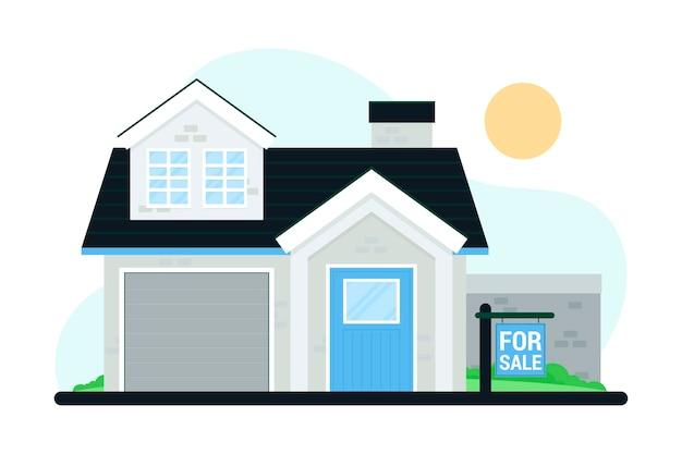 Casa en venta con cartel