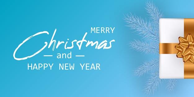 Casarse con tarjeta de navidad y feliz año nuevo. banner de navidad.