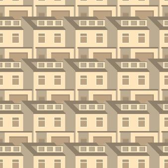 Casas 3d sin patrón de diseño vintage plana