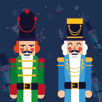 Cascanueces feliz navidad