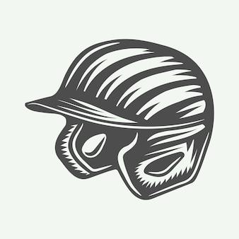 Casco de béisbol vintage