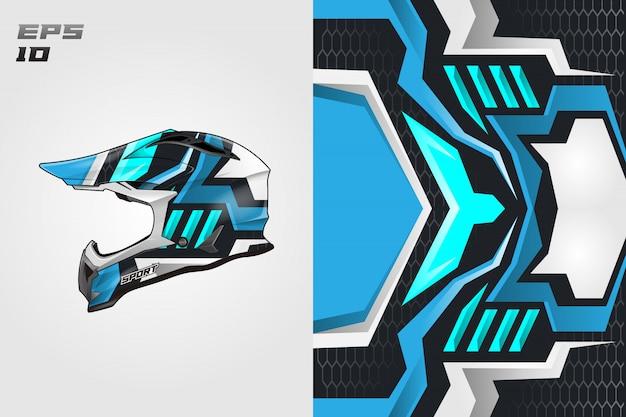 Casco calcomanía envolver diseños vectoriales diseños de librea