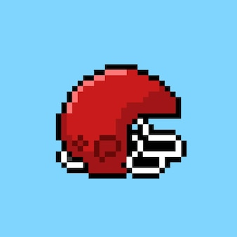 Casco de fútbol americano en estilo pixel art