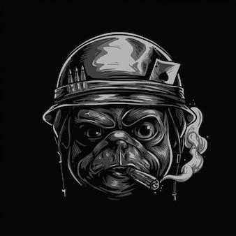 Casco soldado pug