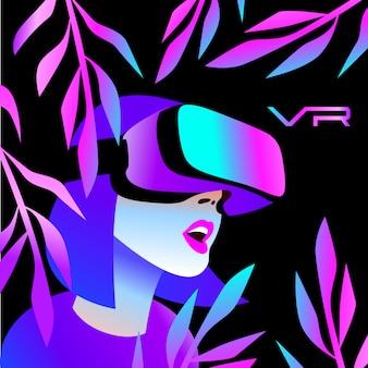 Casco vr para simulación espacial y juegos digitales.