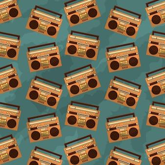 Casete estéreo de radio vintage retro boombox