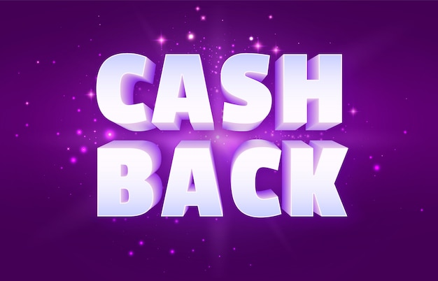 Cash back the banner del programa de recompensas de dinero