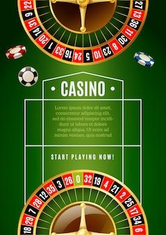 Casino clásico juego de ruleta anuncio cartel