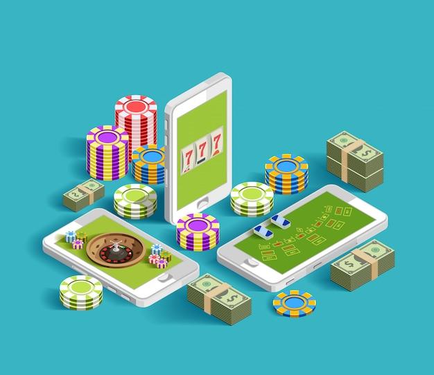 Casino electronic gambling composition