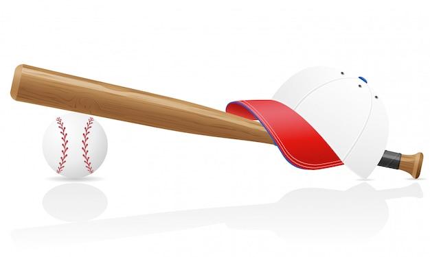 Casquillo de bola de béisbol y poco