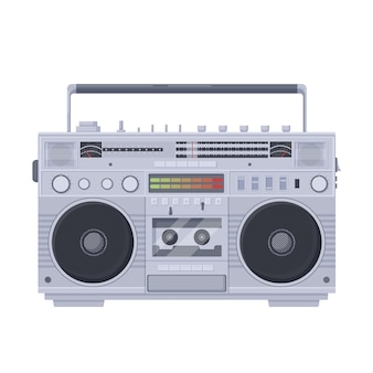 Cassette retro boombox. grabadora de cassette sola portátil antigua sharpe.