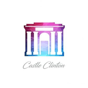 Castillo clinton, poligonal