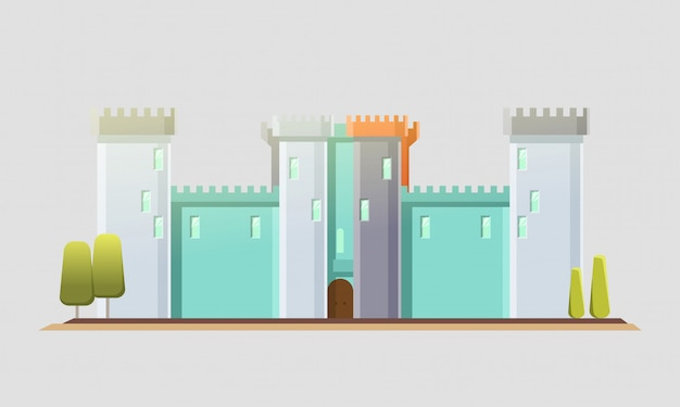 Castillo de cuento de hadas.