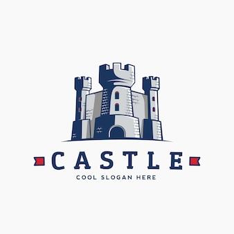 Castillo logo plantilla fortaleza.