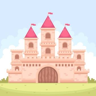 Castillo mágico de cuento de hadas