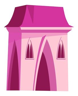 Castillo rosa para princesa de hadas