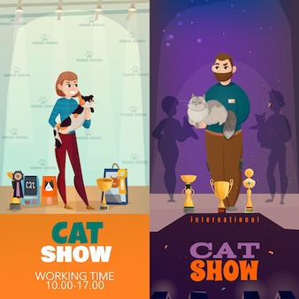 Cat show banners