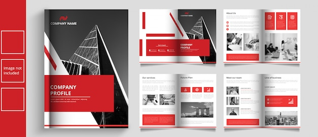 Catálogo de negocios moderno o plantilla de booket