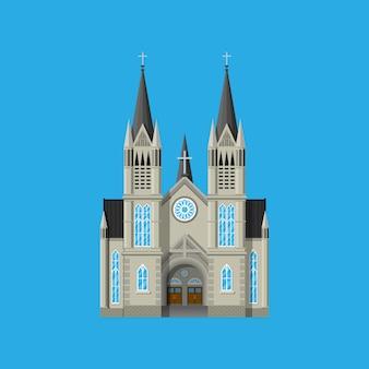 Catedral de la iglesia católica en estilo gótico