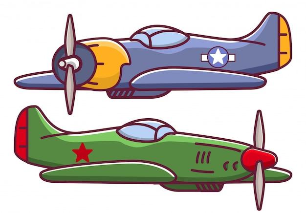 Caza de aviones militares de la guerra mundial.
