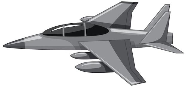 Un caza a reacción o un avión militar aislado sobre fondo blanco.