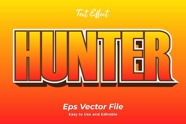Cazador de efectos de texto editable y fácil de usar vector premium