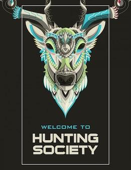 Cazadores de caza o carteles de temporada abierta.