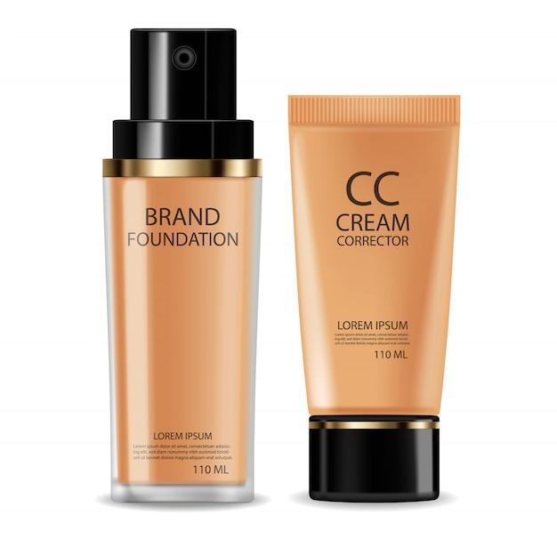 Cc crema fundación cosmética realista.