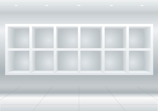 Celdas de muebles blancos
