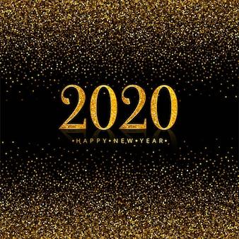 Celebración 2020 vacaciones de año nuevo en brillos