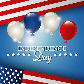Celebración del 4 de julio en el día de la independencia en los estados unidos de américa.