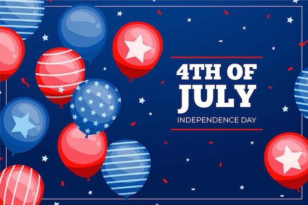 Celebración del 4 de julio de estilo plano
