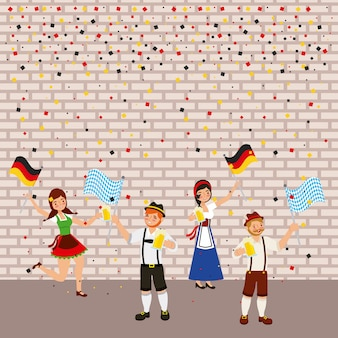 Celebración alemana oktoberfest